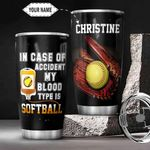 Softball KD4 Personalized THA3012030 Stainless Steel Tumbler