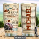 Personalized American Football To My Son TTB3112001 Stainless Steel Tumbler