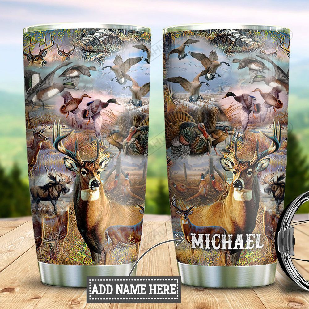 Personalized Wildlife Hunting DNZ3112006 Stainless Steel Tumbler