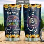 Personalized Sunflower Hippie Jeep TTZ3112005 Stainless Steel Tumbler