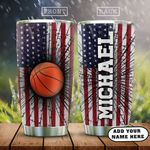 Personalized Basketball HAZ3112001 Stainless Steel Tumbler