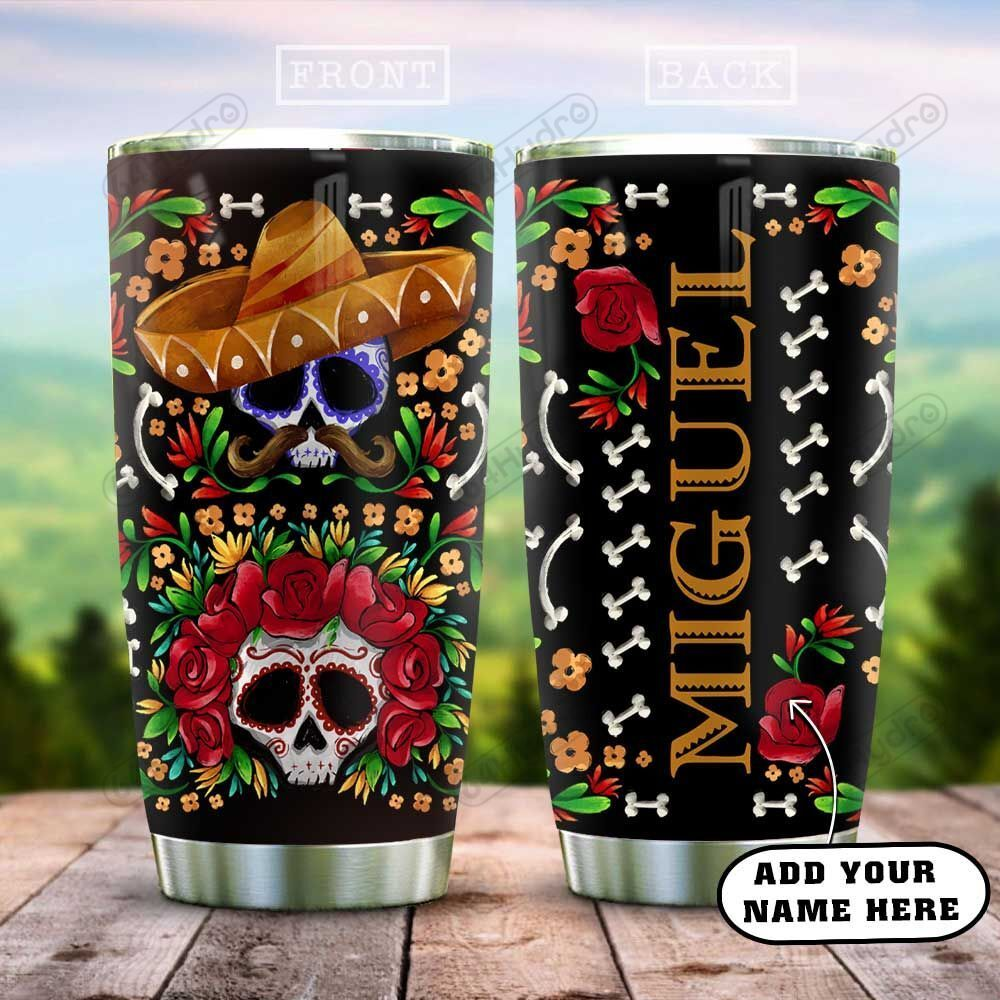 Personalized Mexico Sugar Skull HAZ3112012 Stainless Steel Tumbler