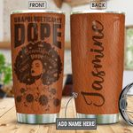 Dope Black Women Leather Style Personalized KD2 BGM3112005 Stainless Steel Tumbler