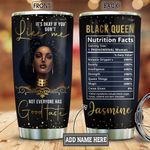 Black Women Good Taste Nutrition Facts Personalized KD2 BGM3112004 Stainless Steel Tumbler