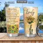 Sunflower Mom Advice Personalized PYR3112015 Stainless Steel Tumbler