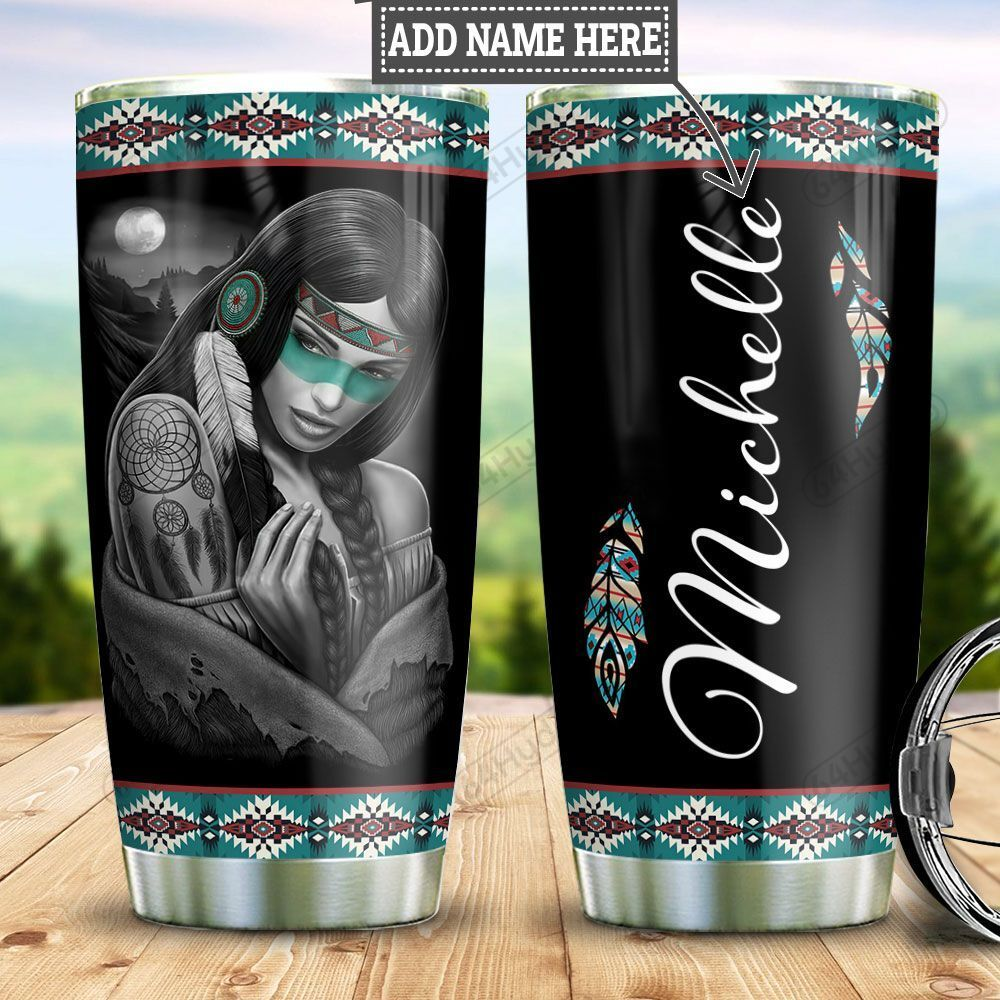 Personalized Native American Woman TTZ0401032Z Stainless Steel Tumbler