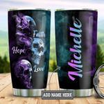 Personalized Skull Faith Hope Love DNZ0401038Z Stainless Steel Tumbler