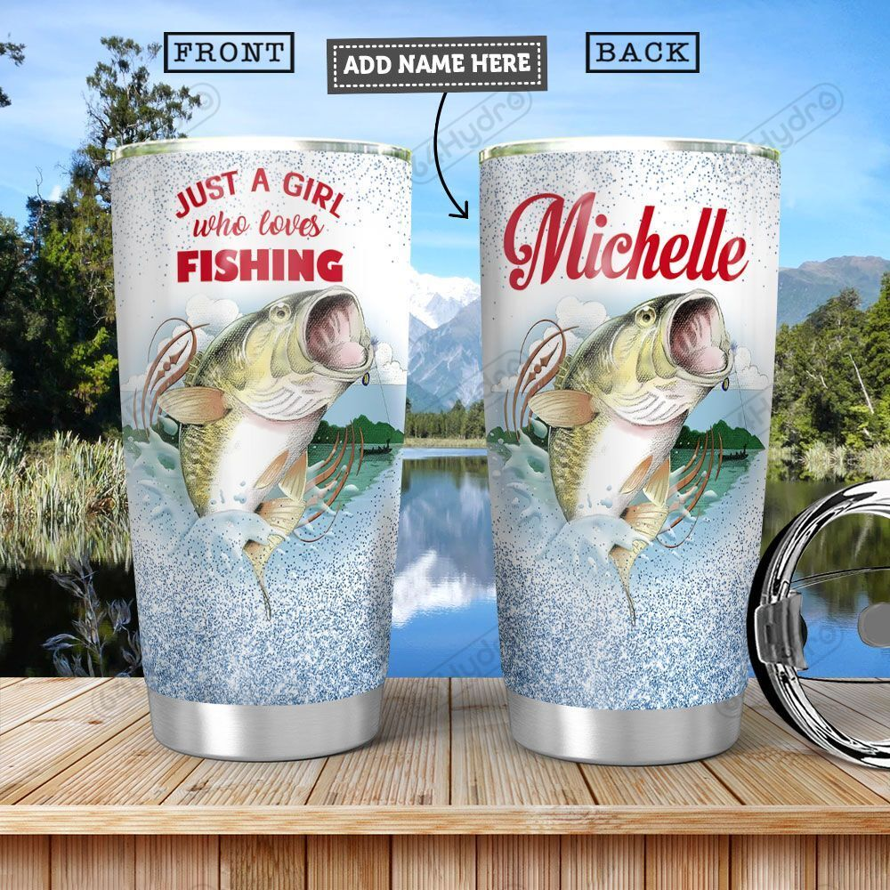 Fishing Personalized HHA0401002Z Stainless Steel Tumbler