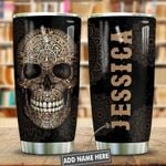 Metal Style Puerto Rico Skull Personalized KD2 HNL0401007Z Stainless Steel Tumbler
