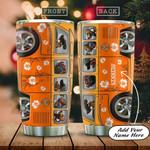 Hibiscus Orange Hippie Van Dogs Personalized KD2 HAL0401005Z Stainless Steel Tumbler