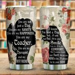 Wooden Style A Girl And Her Dog KD2 HNL0401010Z Stainless Steel Tumbler