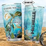 Personalized Turtle Couple DNZ0501025Z Stainless Steel Tumbler