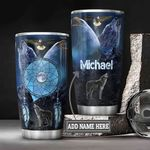 Personalized Native American Wolf Eagle DNZ0501018Z Stainless Steel Tumbler