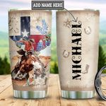 Personalized Texas Man Horse Riding TTZ0501023Z Stainless Steel Tumbler