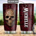 Personalized Red Skull TTZ0501021Z Stainless Steel Tumbler