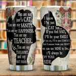 Wooden Style A Girl And Her Cat KD2 HNL0501006Z Stainless Steel Tumbler