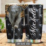 Elephant Panther Leather Style KHR0501011Z Stainless Steel Tumbler