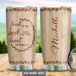 Personalized Faith Wood Style DNZ0501007Z Stainless Steel Tumbler