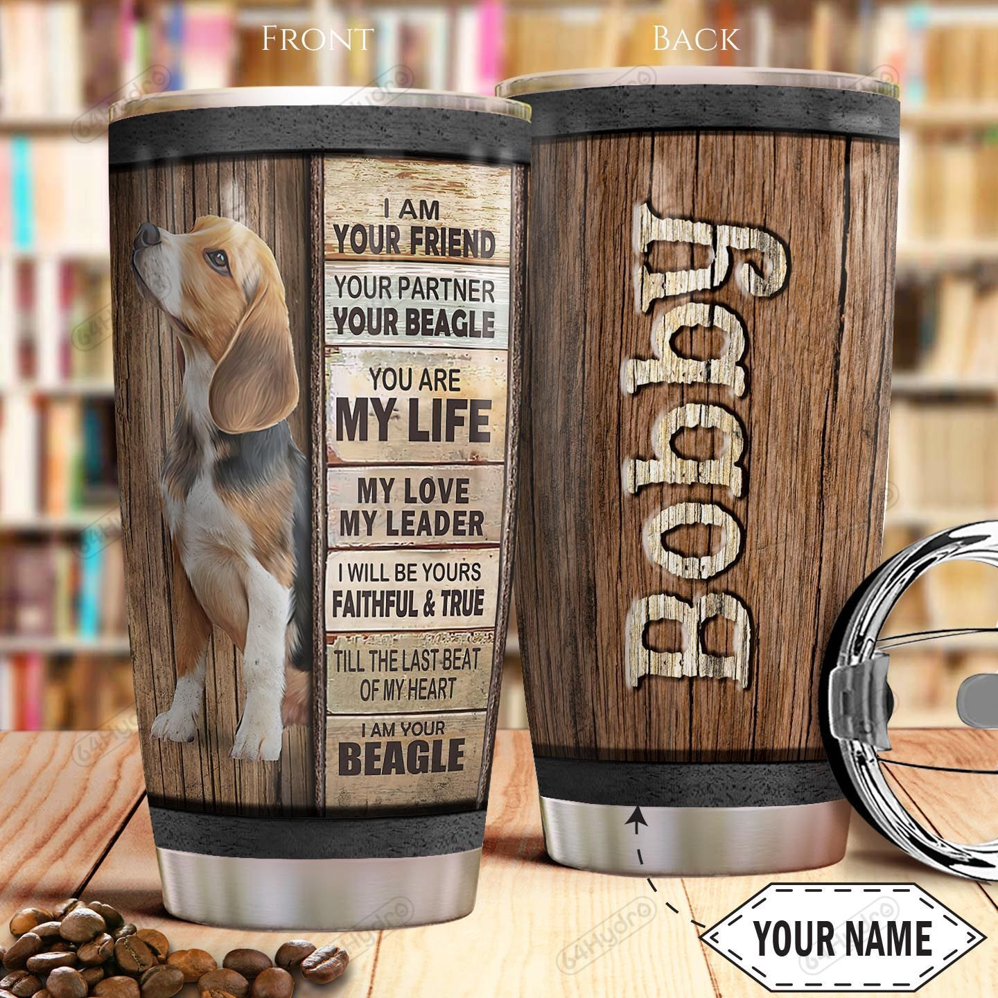 Beagle Personalized THA0501014Z Stainless Steel Tumbler