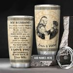 Personalized Viking To My Husband KD2 BGM0501012Z Stainless Steel Tumbler