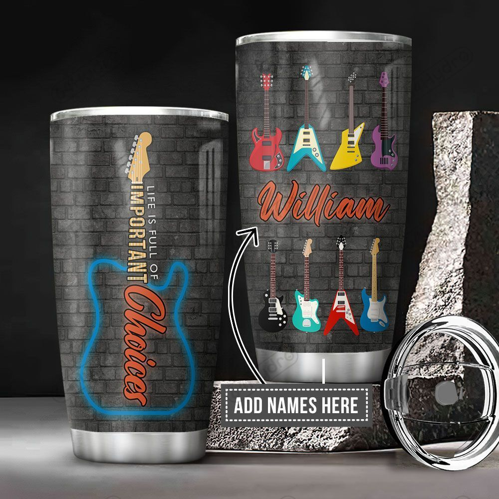 Personalized Guitar Typo KD2 BGM0501002Z Stainless Steel Tumbler