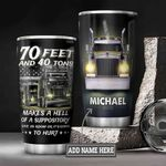 Personalized Trucker Feet And Tons DNZ0601025Z Stainless Steel Tumbler