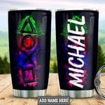 Personalized Game Buttons HLZ0601018Z Stainless Steel Tumbler