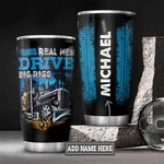 Personalized Trucker Big Rigs DNZ0601024Z Stainless Steel Tumbler