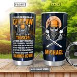 Personalized Skull Trucker Rules TTZ0601023Z Stainless Steel Tumbler