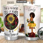 Afro Sunflower Personalized PYR0601006Z Stainless Steel Tumbler