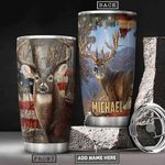 Deer Hunting Personalized PYR0601010Z Stainless Steel Tumbler