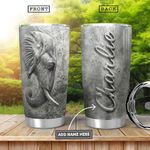 Elephant Cement Style Personalized KHR0601011Z Stainless Steel Tumbler