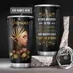 Personalized Black Women Storm BGM0601003Z Stainless Steel Tumbler