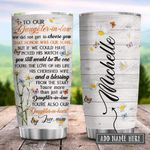 To My Daughter In Law Wild Daisy Personalized KD2 HRX0601008Z Stainless Steel Tumbler