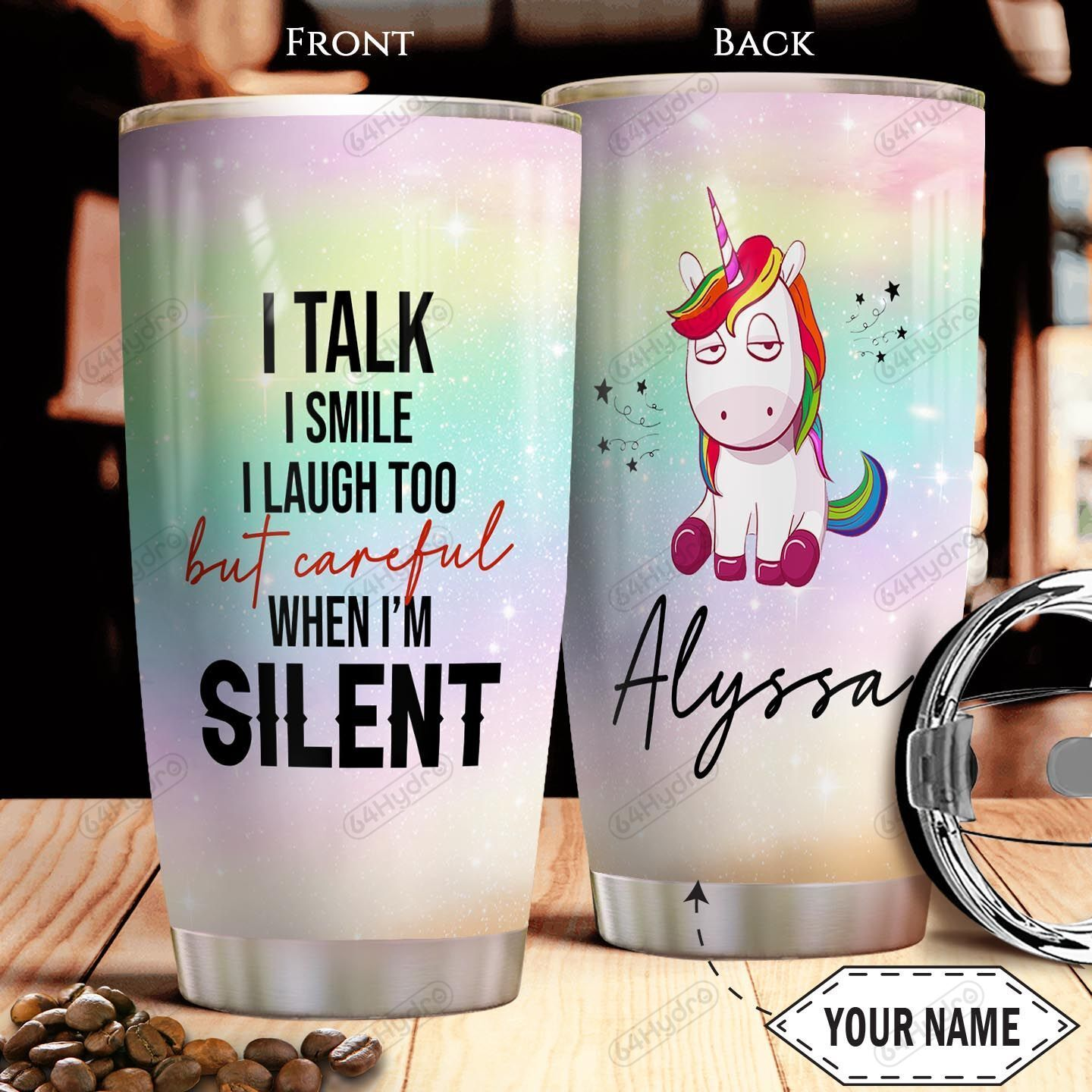 Unicorn KD4 Personalized THA0601006Z Stainless Steel Tumbler