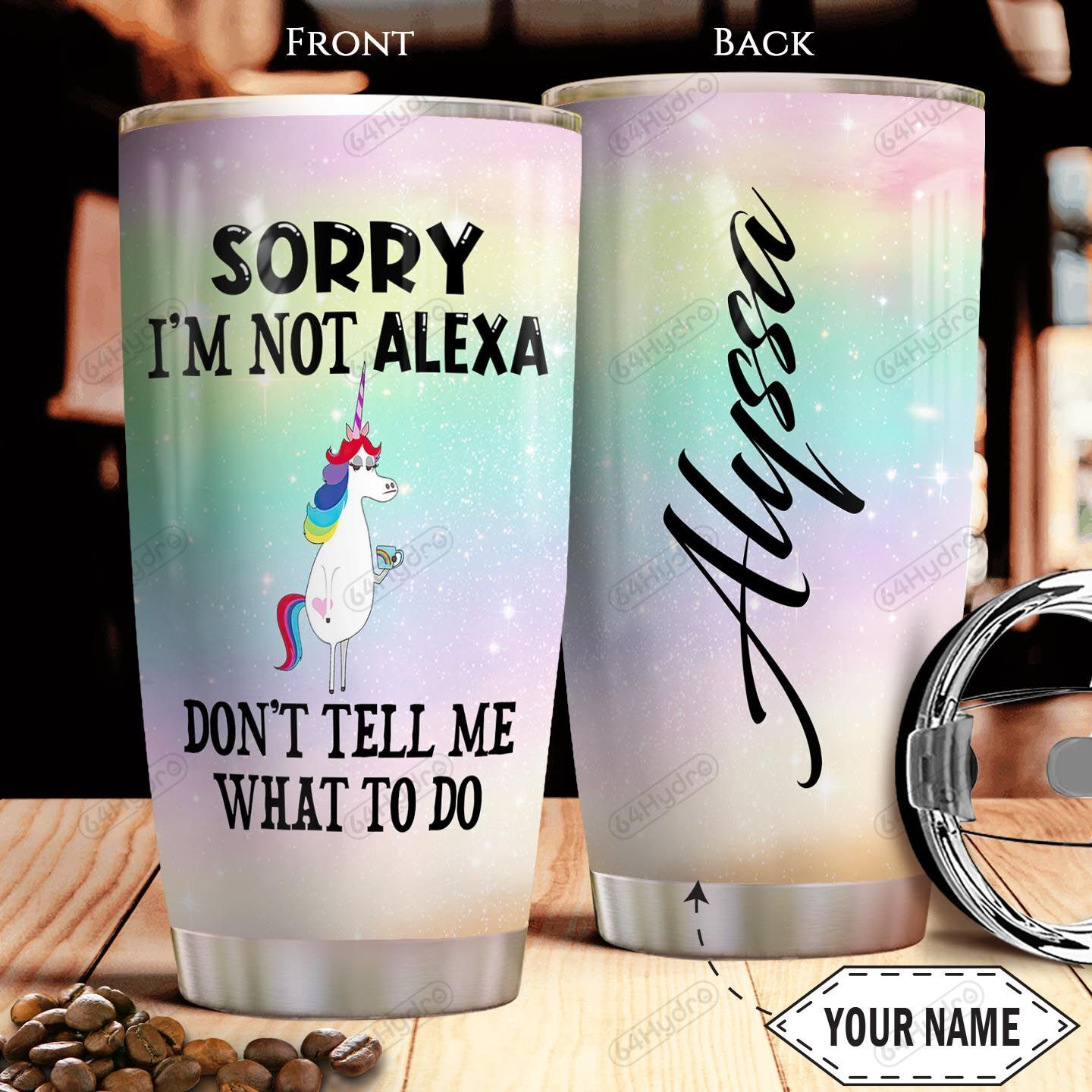 Unicorn Personalized THA0601007Z Stainless Steel Tumbler