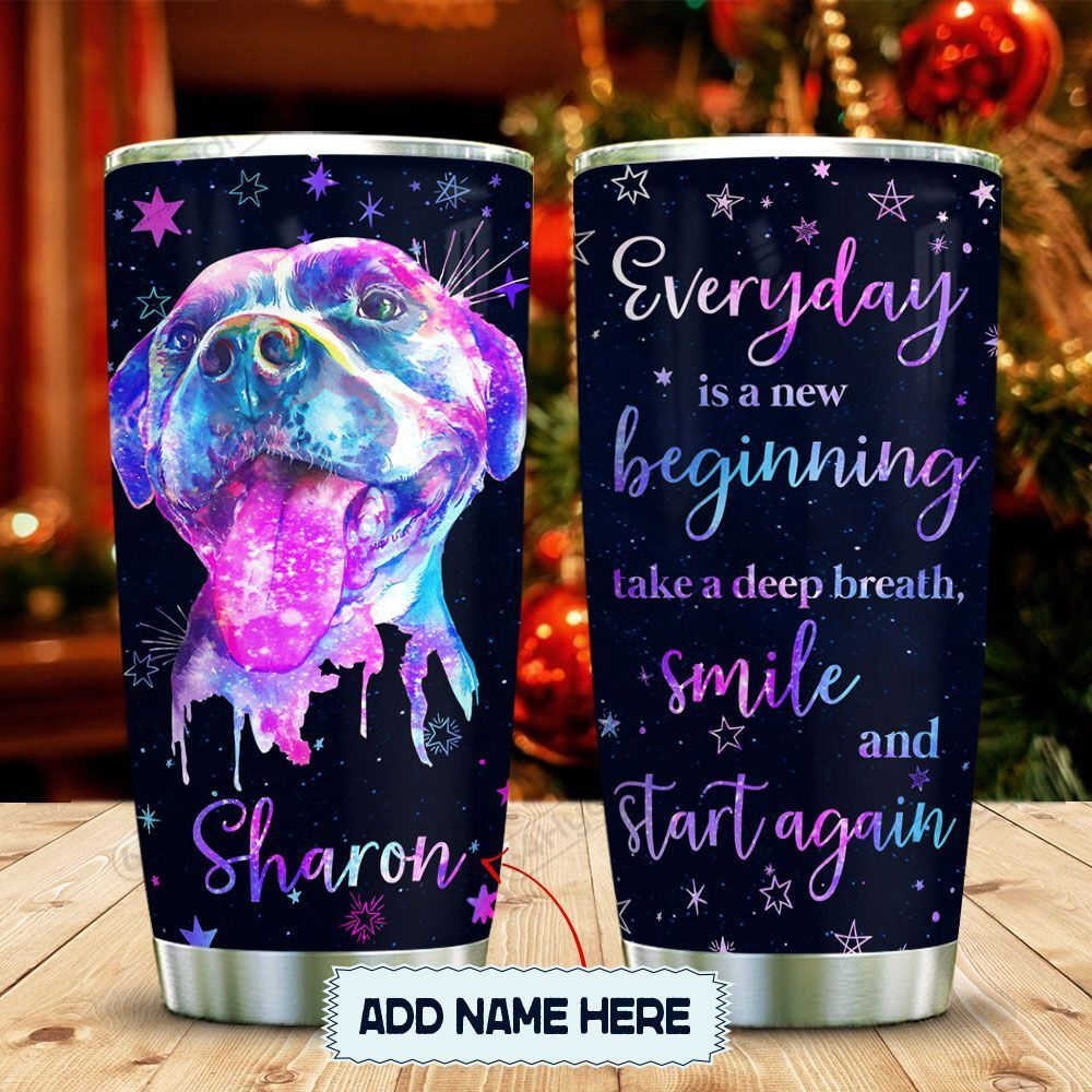 Hologram Happy Pitbull Personalized KD2 MAL0601014Z Stainless Steel Tumbler