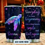 Happy Turtle Personalized KD2 MAL0601011Z Stainless Steel Tumbler