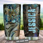 Abstract Art Style Tiger Personalized KD2 HNL0601006Z Stainless Steel Tumbler