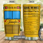 Personalized School Bus Driver Nutrition Facts BGM0701006Z Stainless Steel Tumbler