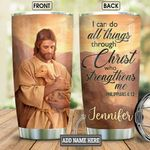 Personalized Faith Jesus With Lamb BGM0701003Z Stainless Steel Tumbler
