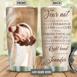 Personalized Faith Jesus Right Hand BGM0701002Z Stainless Steel Tumbler