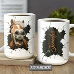 Personalized Horse Face Funny BGM0701004Z Full Color Ceramic Mug