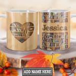 Personalized Book Lovers Heart HLZ0701003Z Full Color Ceramic Mug