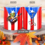 Personalized Puerto Rico Frog Guitar TTZ0701010Z Full Color Ceramic Mug