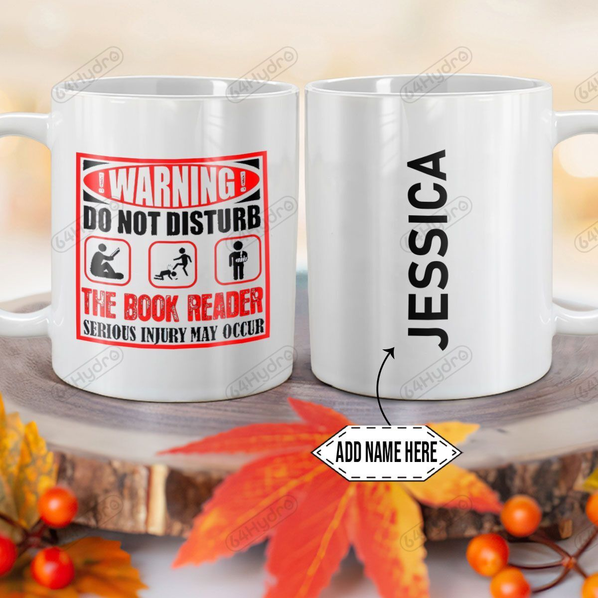 Personalized Book Lover Warning DNZ0701002Z Full Color Ceramic Mug