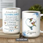 Hummingbird Advice Personalized PYR0701001Z Full Color Ceramic Mug