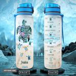 Turtle Personalized PYR0701004Z Water Tracker Bottle
