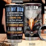 Eagle To My Son Personalized PYR0701008Z Stainless Steel Tumbler