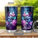 Skull Butterfly Personalized HHA0701010Z Stainless Steel Tumbler